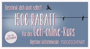 XMAS2017 Gutschein Geh online Kurs