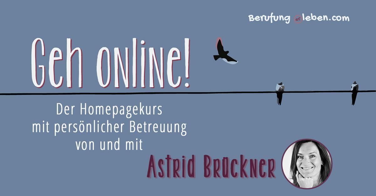 Geh online Homepagekurs